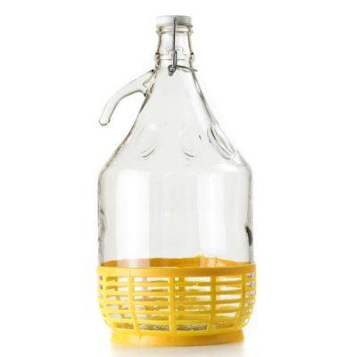 Dama per olio in vetro con cestello