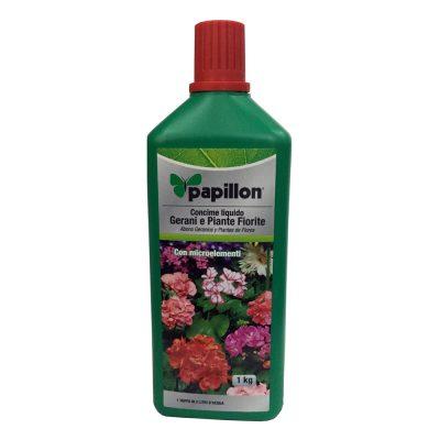 Concime liquido per gerani e piante fiorite