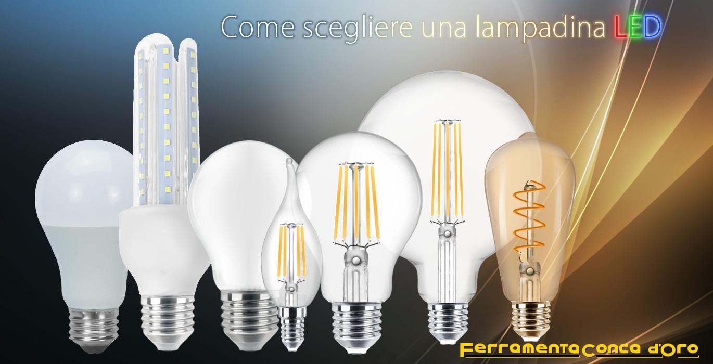 come scegliere una lampadina led